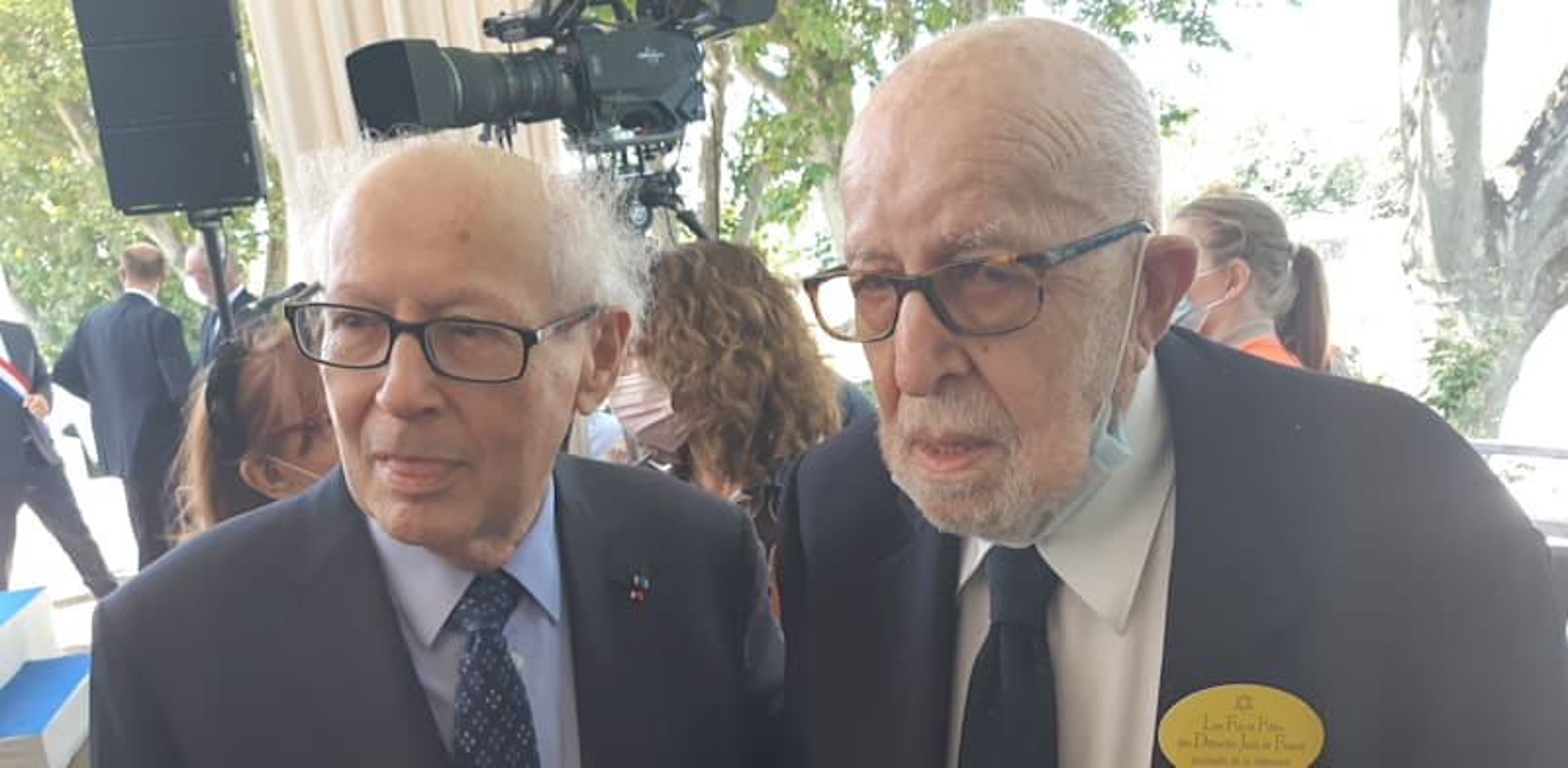 Serge Klarsfeld, with Joseph Schwartz credit: BK