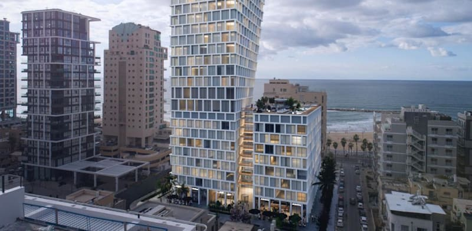 Impression of tower planned for 33-37 Hayarkon Street, Tel Aviv credit: Israel Canada