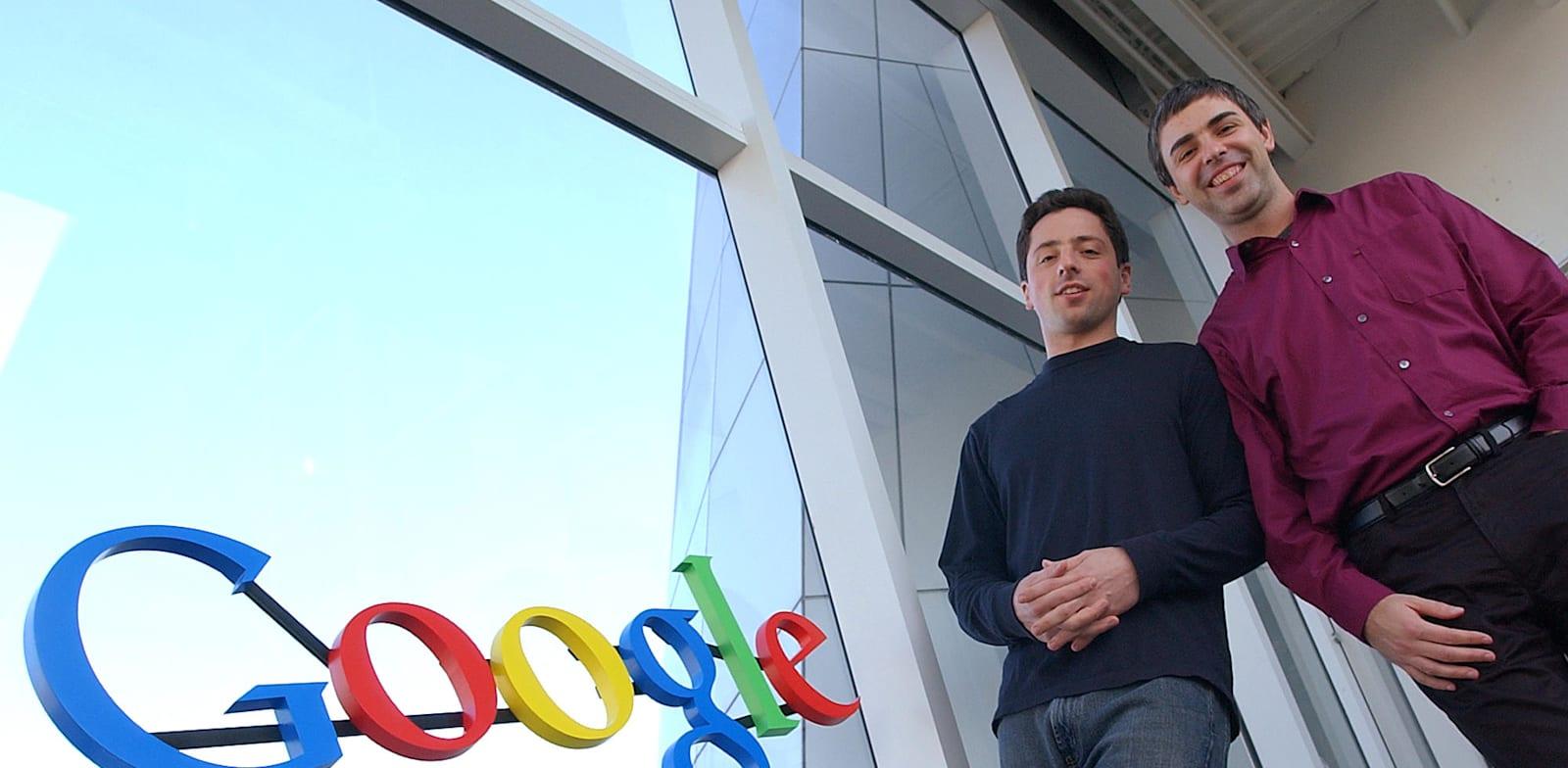 מייסדי גוגל, לארי פייג' וסרגיי ברין / צילום: ben margot