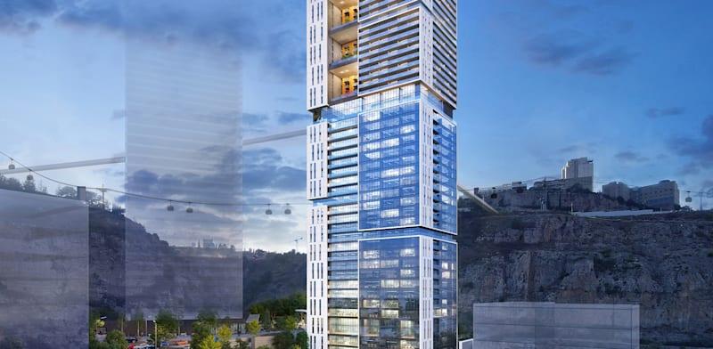 מגדל המחצבה בנשר / הדמיה: קרדיט מילוסלבסקי אדריכלים