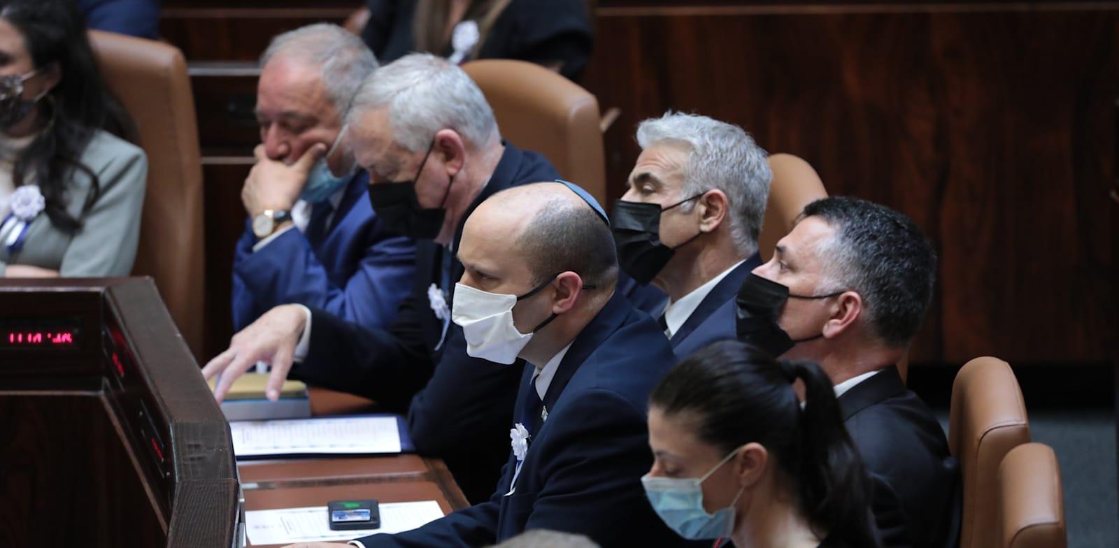 ראשי הסיעות של הממשלה החדשה / צילום: יוסי זמיר