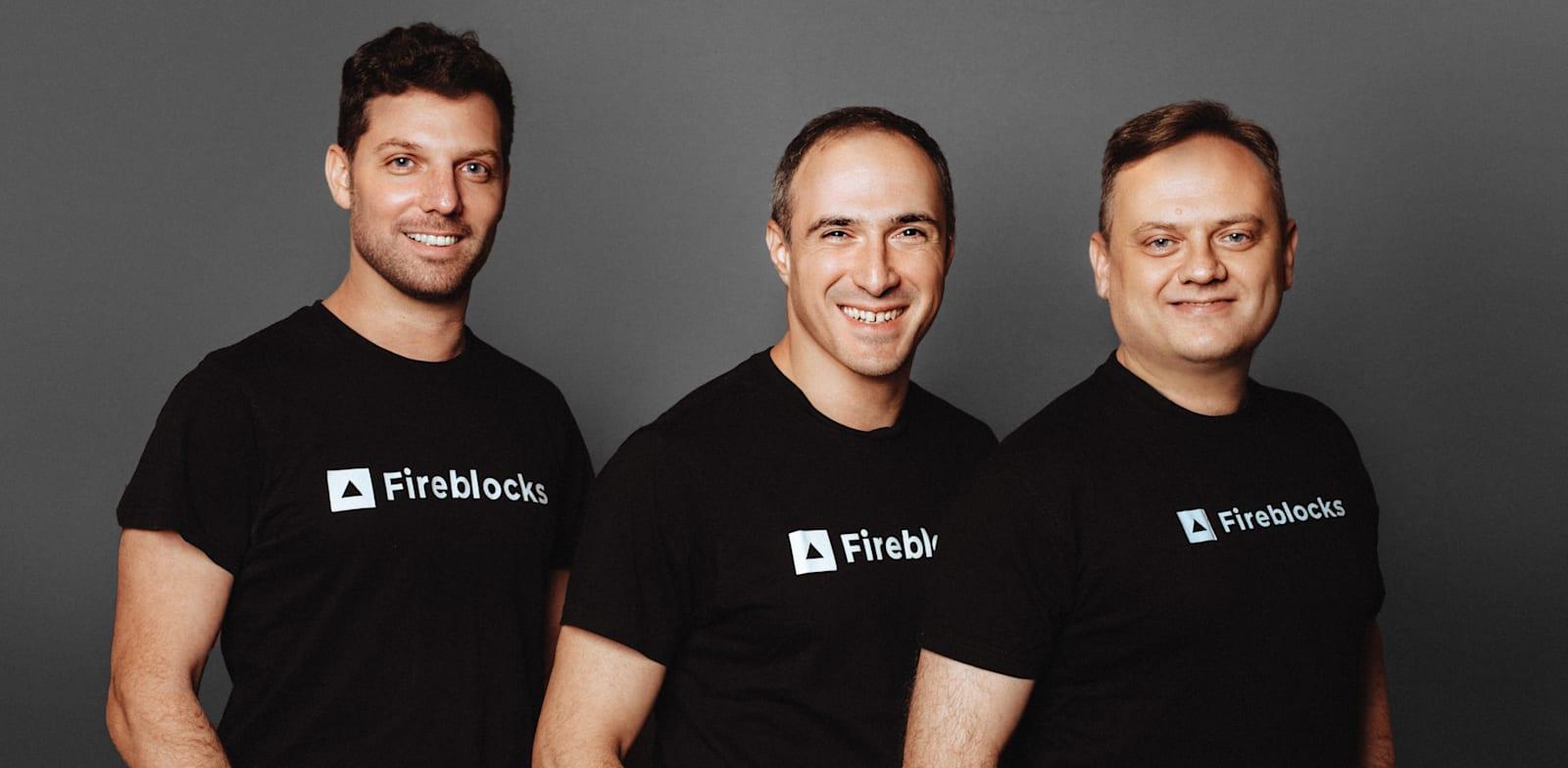 Fireblocks founders Idan Ofrat, Michael Shaulov, and Pavel Berengoltz  credit: PR