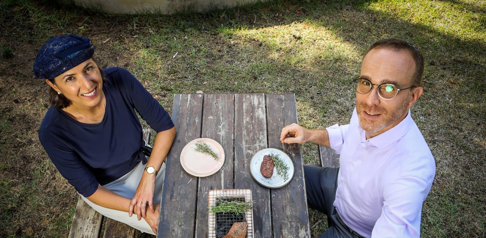 Shlomit Levenberg and Didier Toubier Photo: Shlomi Yosef