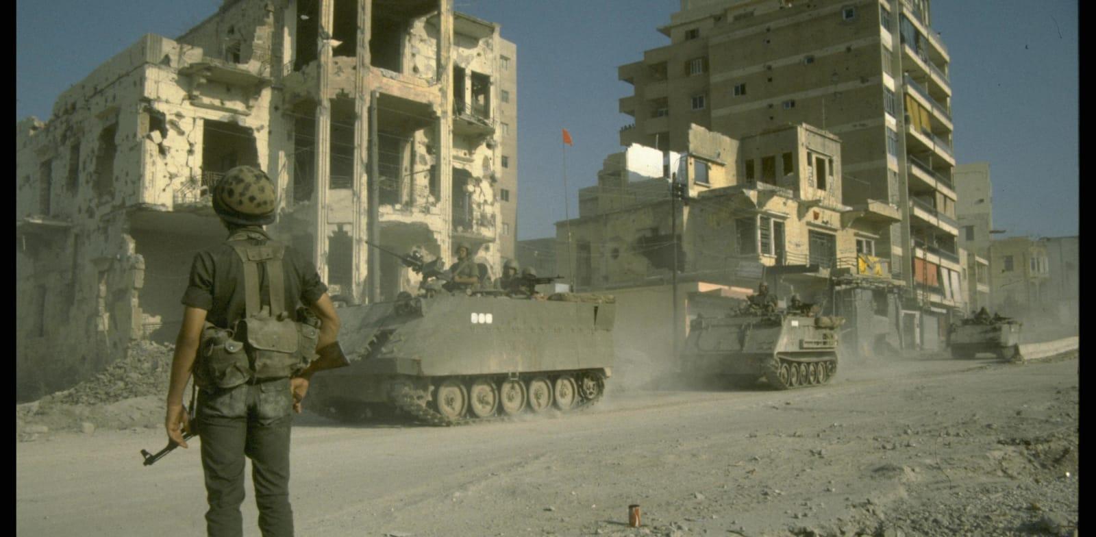 """חייל צה''ל בלבנון, 82' / צילום: לע""""מ"""