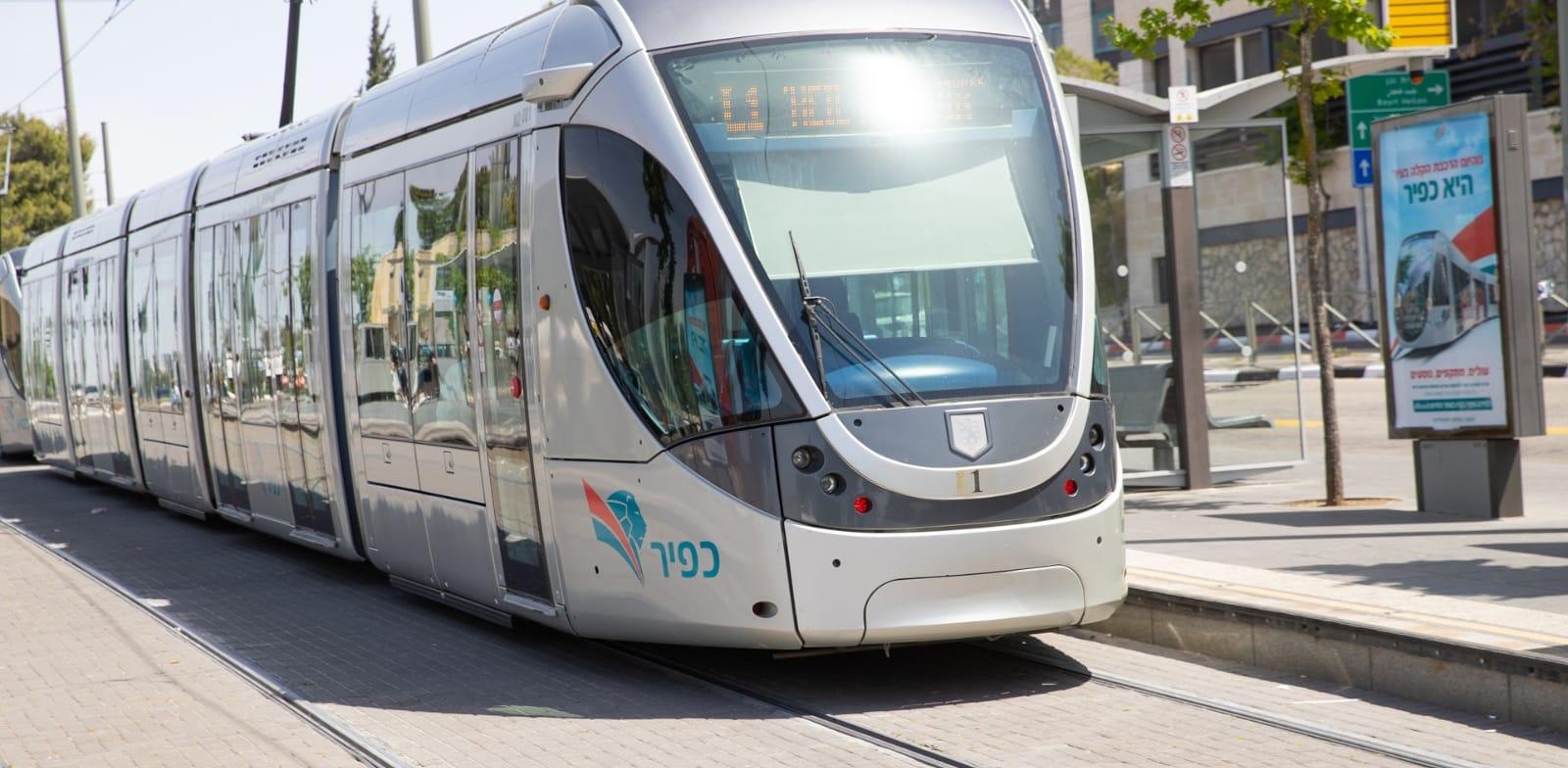 הרכבת הקלה בירושלים / צילום: כפיר הרכבת הקלה ירושלים