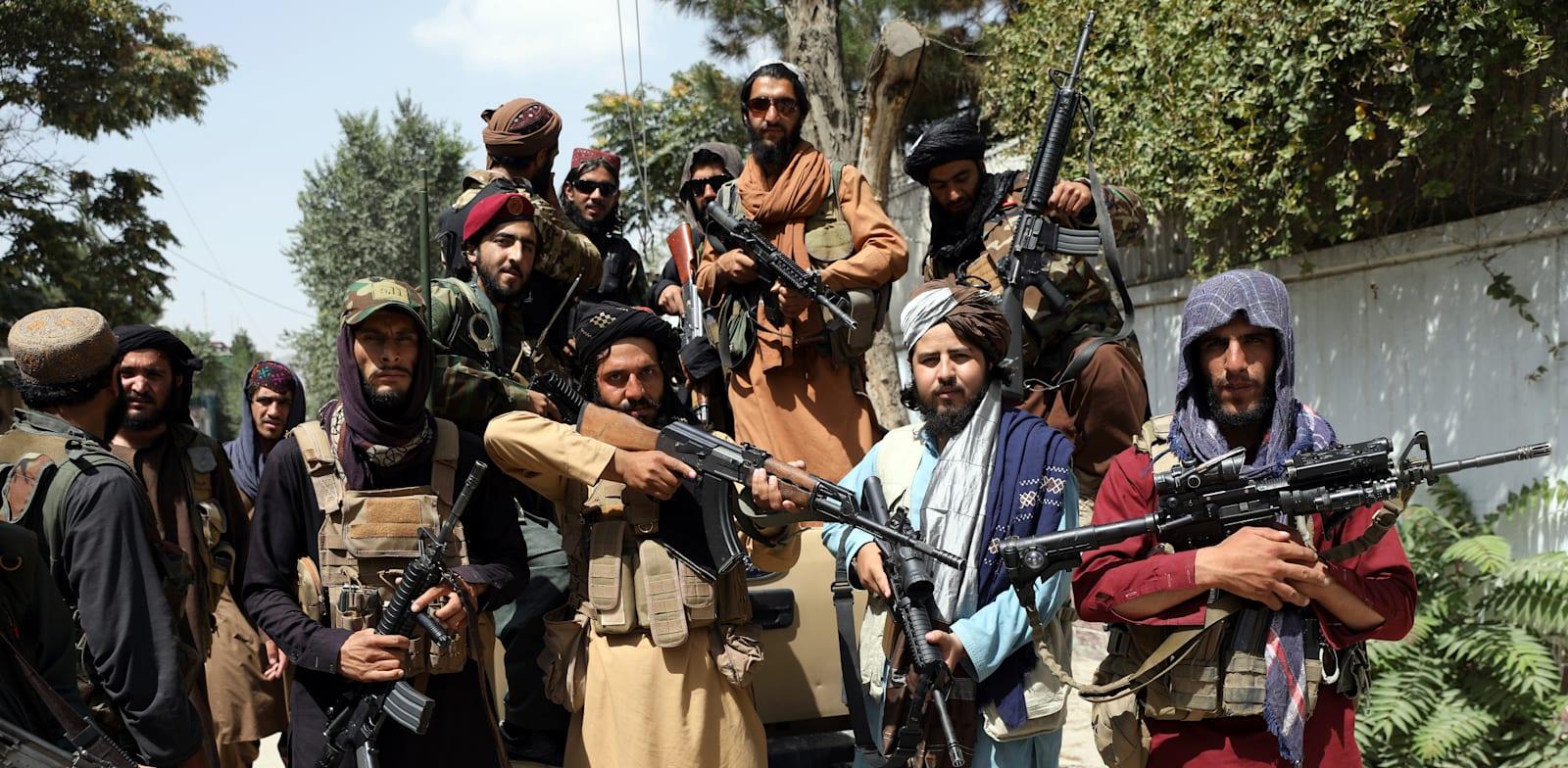 לוחמי הטליבאן בקאבול, אפגניסטן / צילום: Associated Press, Rahmat Gul