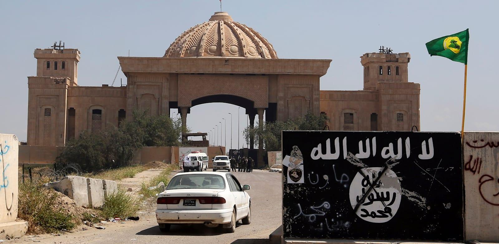 דגל דאעש בתיכרית / צילום: Associated Press, Khalid Mohammed