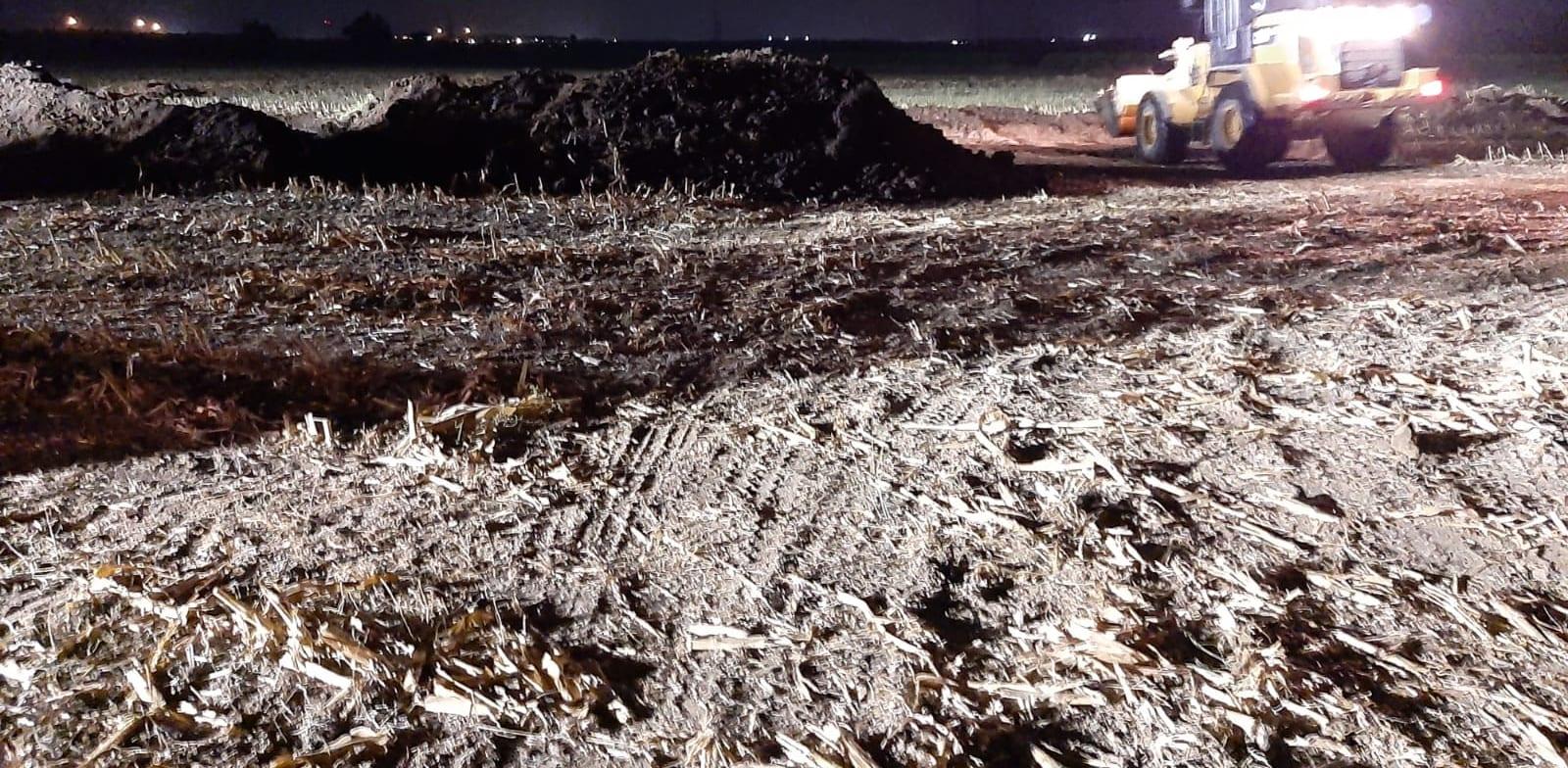 דליפת דלק בקצא''א בקו החברה במועצה האזורית חוף אשקלון / צילום: המשרד להגנת הסביבה
