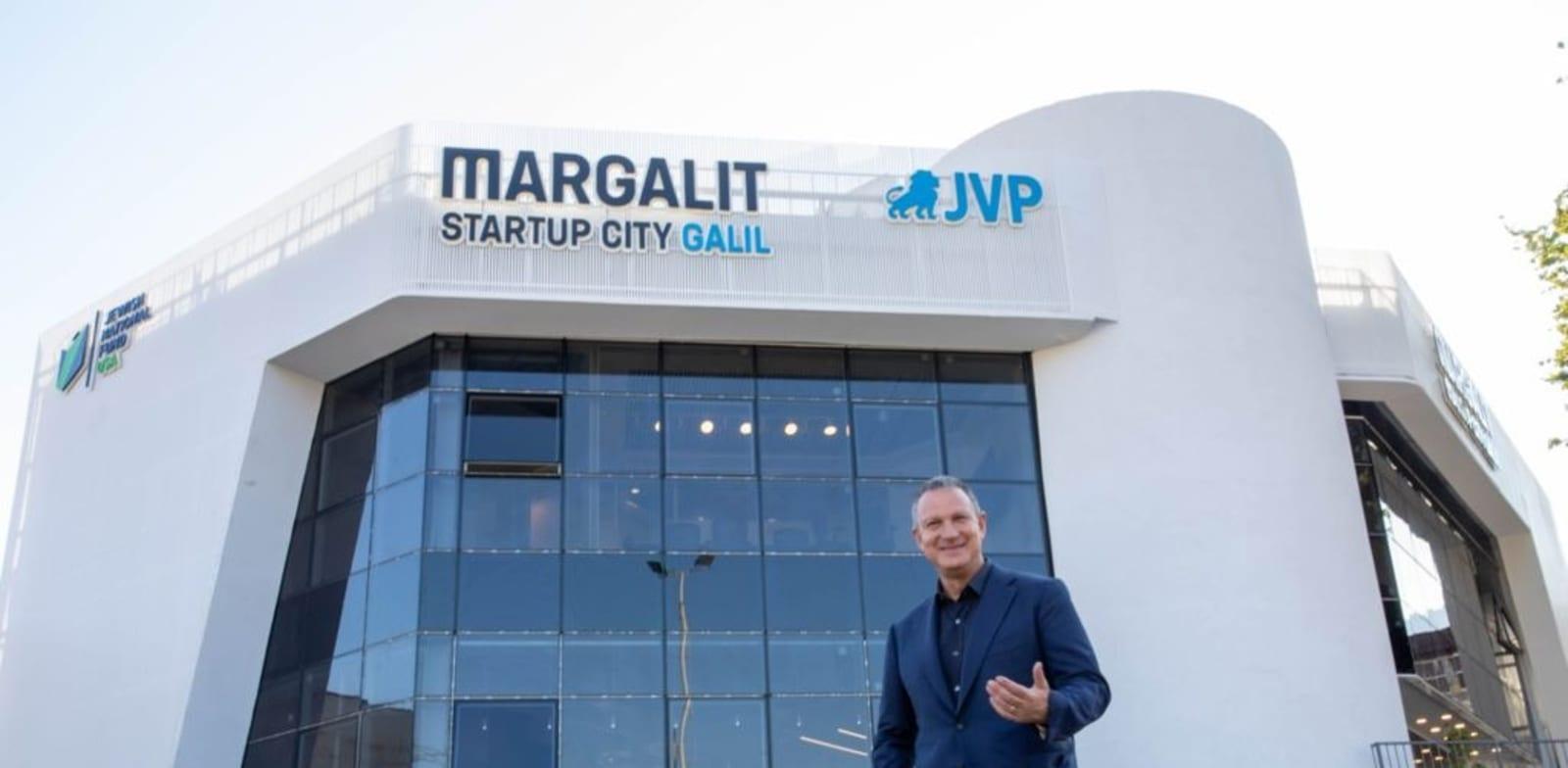 Erel Margalit at new startup center in Kiryat Shemona  credit:  Olivia Rosenthal