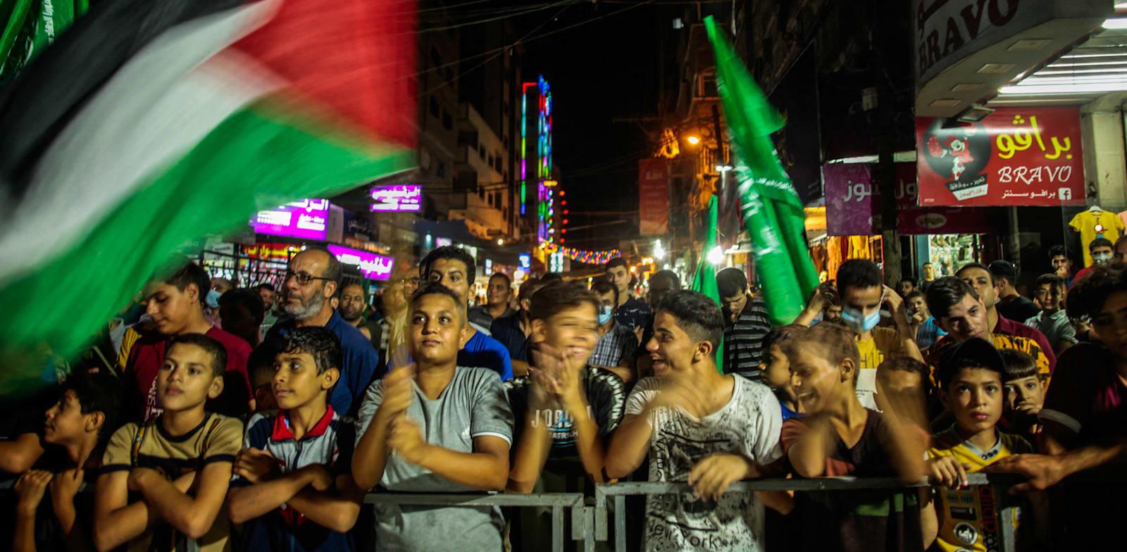 הפגנת תמיכה באסירים בעזה / צילום: Reuters, חבוב ראמז