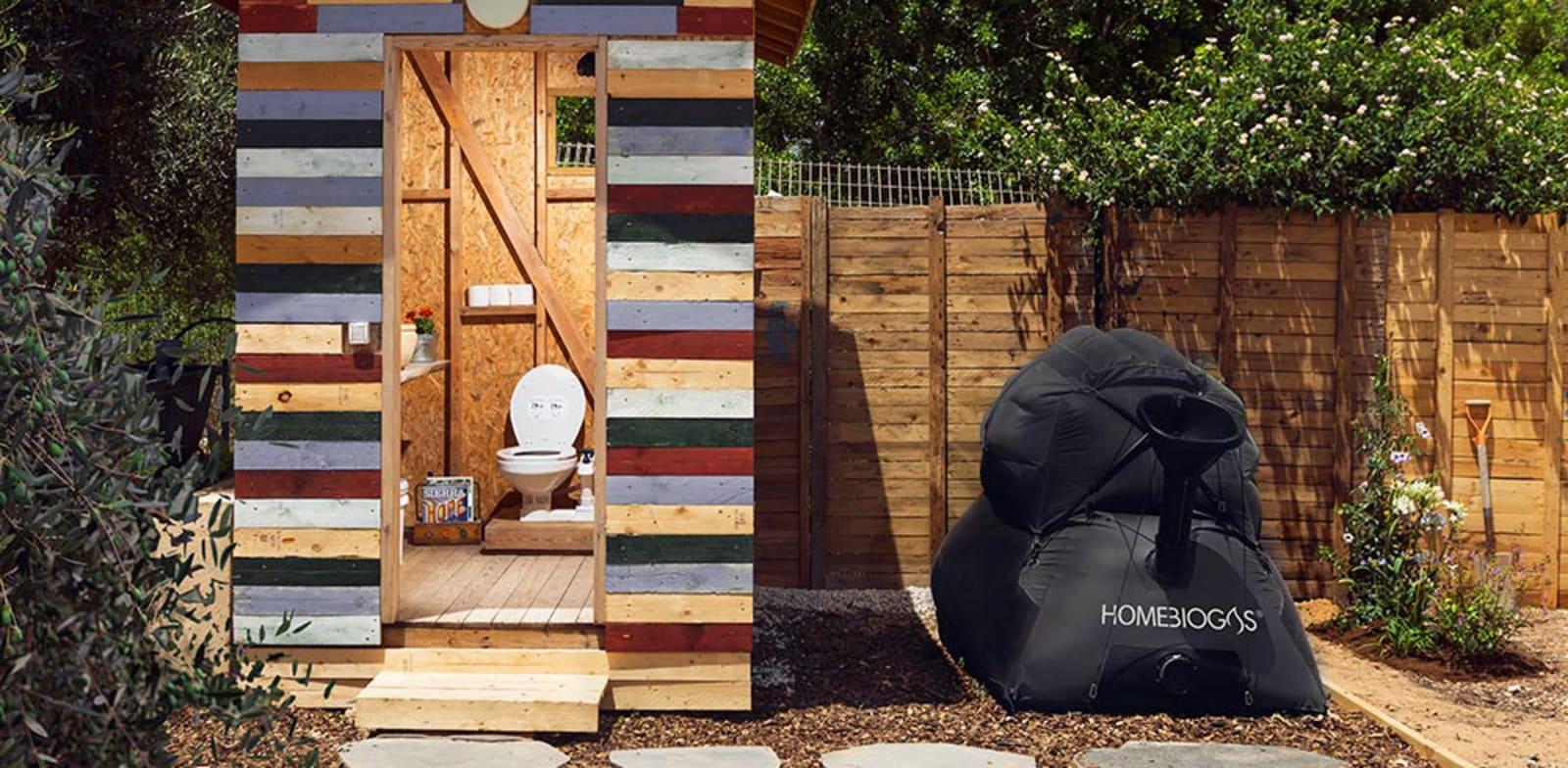 מערכת bio-toilet של הום ביוגז. למדינות עולם שלישי ולצרכנים עם מודעות / צילום: הום ביוגז