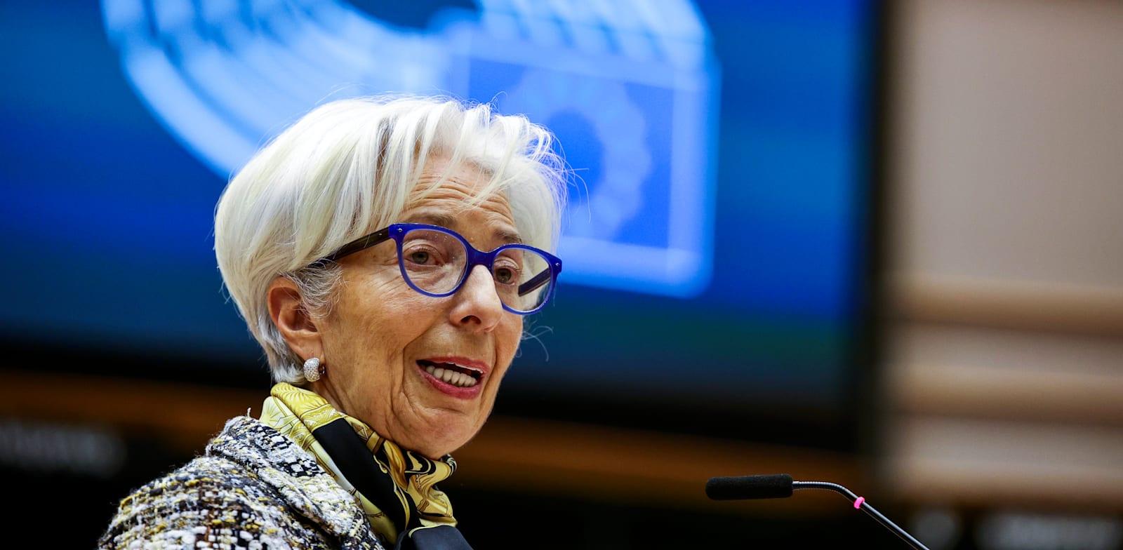 יו''רית הבנק המרכזי האירופי, קריסטין לגארד / צילום: Associated Press, Olivier Matthys