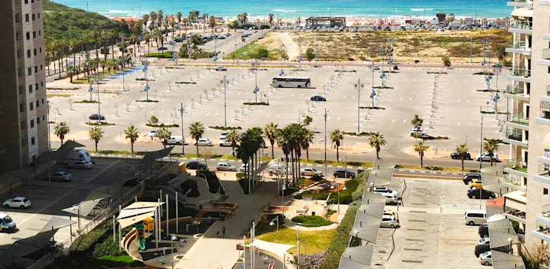 The seafront at Rishon LeZion  - parking lots all the way  credit: Shutterstock