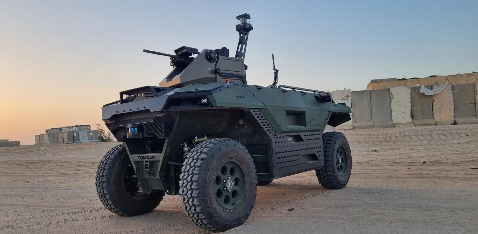 IAI Rex Mk2 autonomous vehicle  credit: IAI