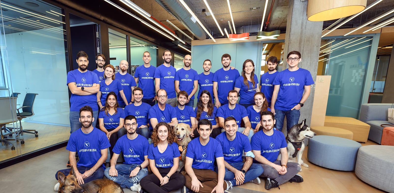 VisibleRisk employees Photo: Doron Letzter