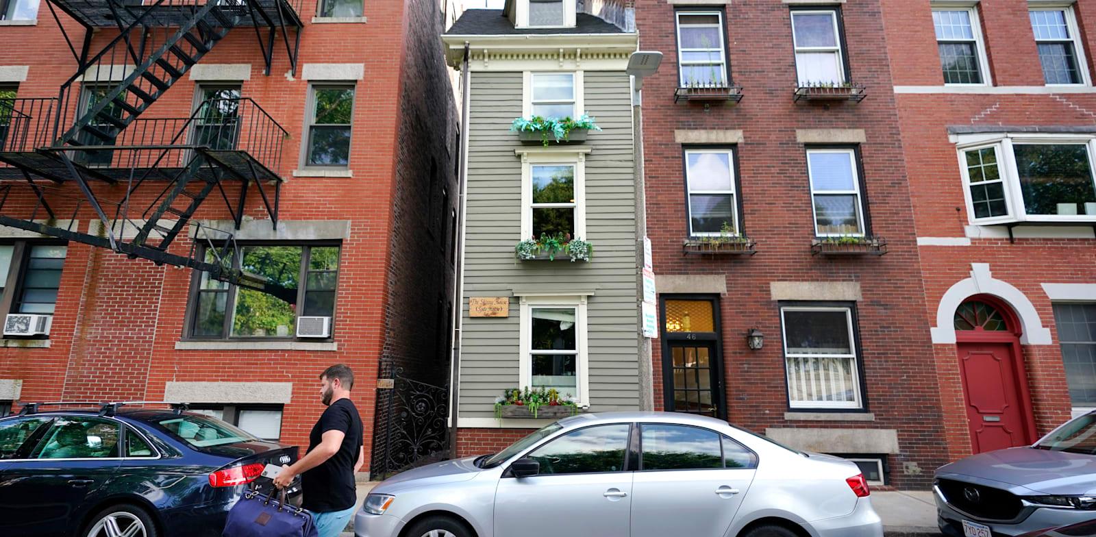 ''הבית הרזה'' בבוסטון / צילום: Associated Press, Elise Amendola