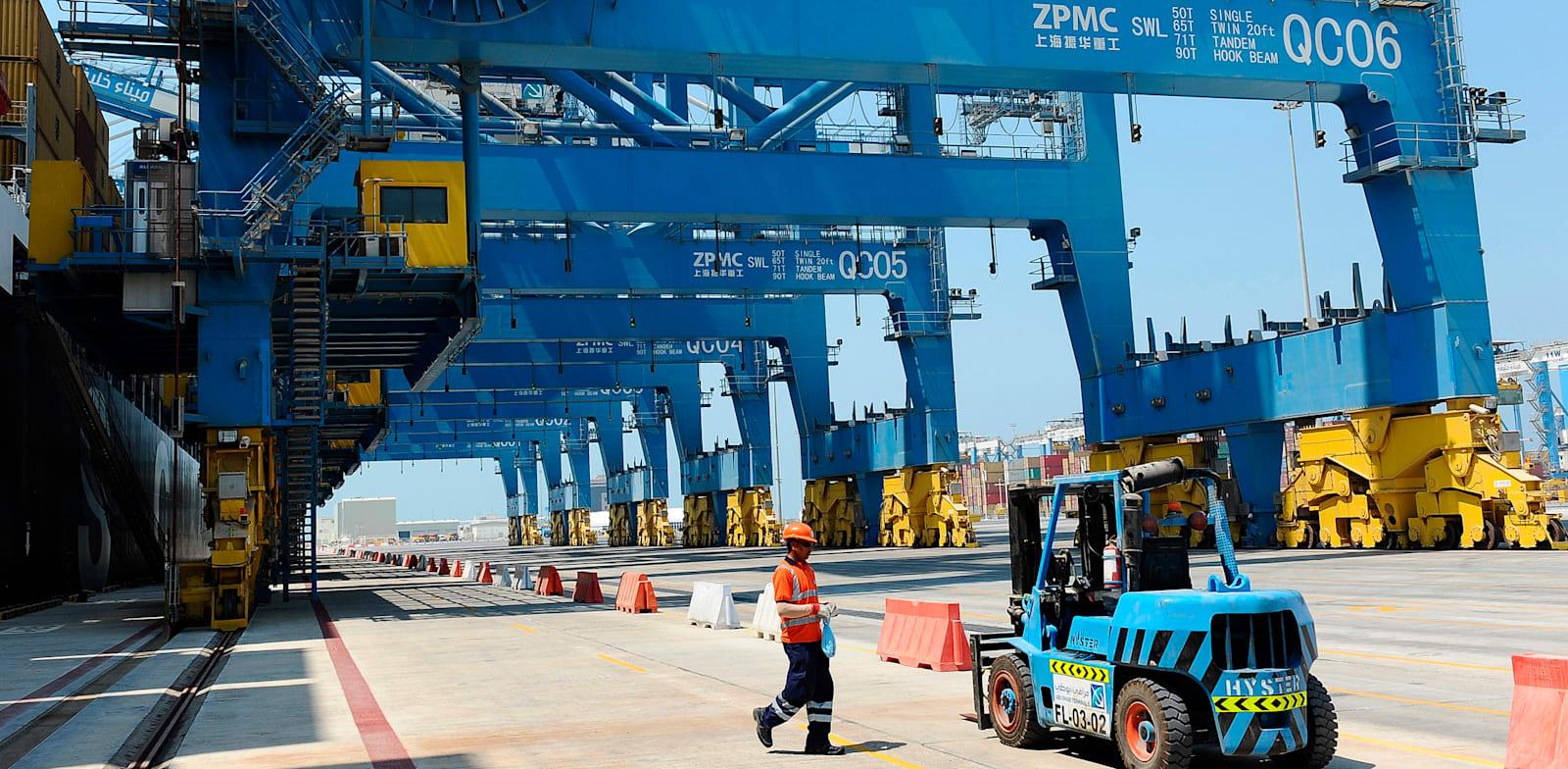 הנמל הימי של אזור התעשייה ומרכז הסחר החופשי קיזאד / צילום: Reuters, Ben Job