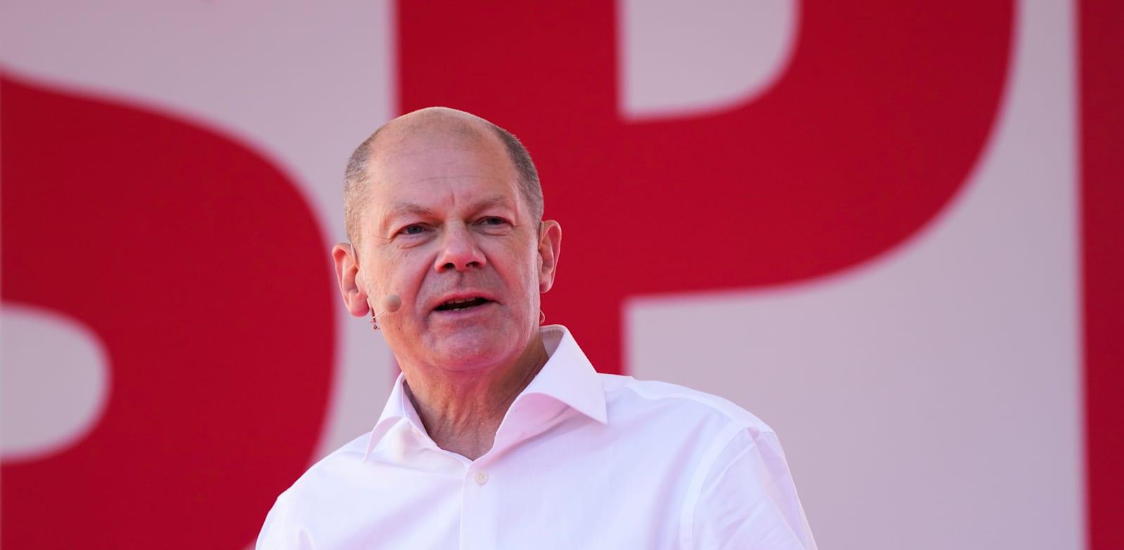 אולף שולץ, מנהיג המפלגה הסוציאל דמוקרטית / צילום: Associated Press, Markus Schreiber