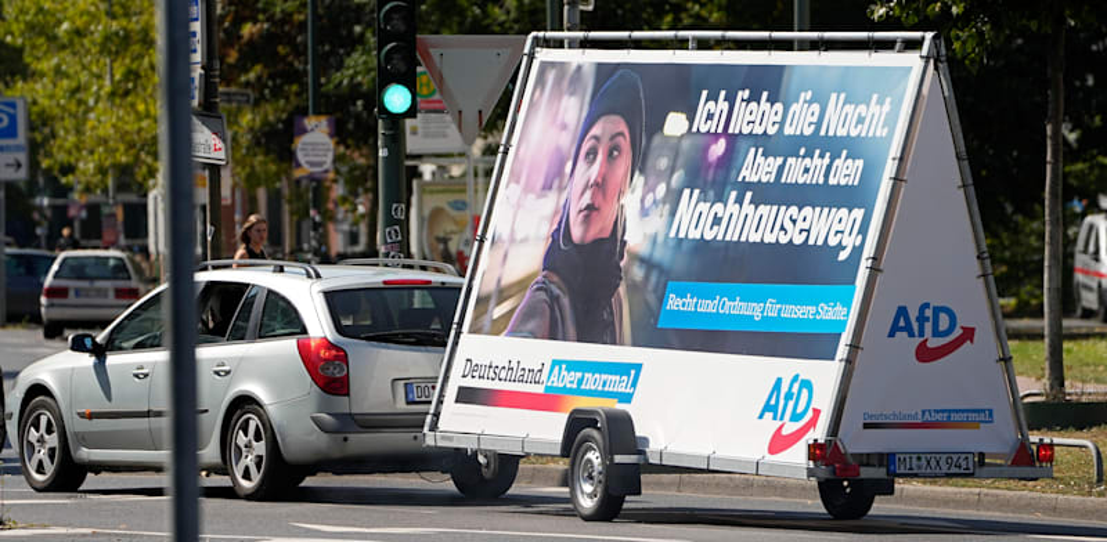שלט בחירות של מפלגת AfD / צילום: Associated Press, Martin Meissner