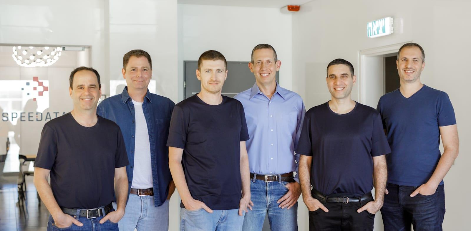 Speedata founders Jonathan Friedmann, Dan Charash, Rafi Shalom, Itai Incze, Yoav Etsion and Dani Voitsechov Photo: PR