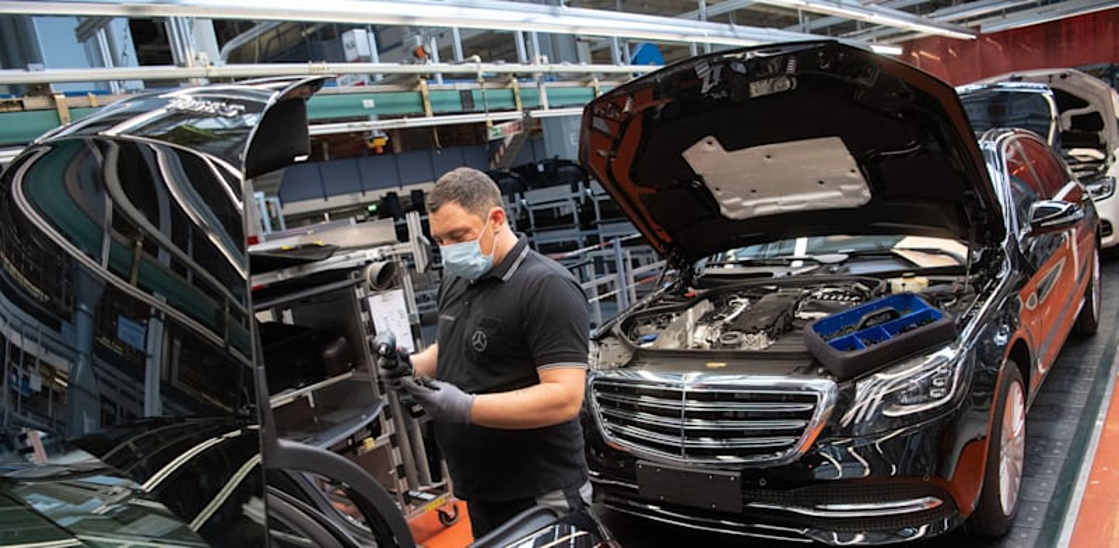 מפעל מרצדס בגרמניה, בשבוע שעבר / צילום: Reuters, dpa