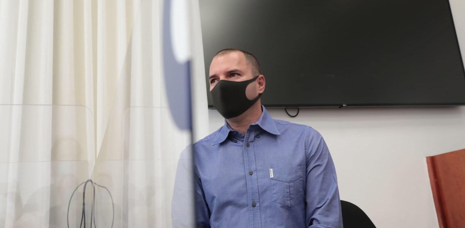 אבירם אלעד מעיד במשפט נתניהו / צילום: יוסי זמיר