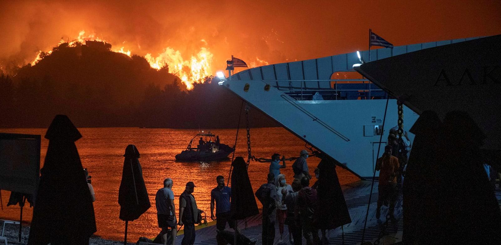 השריפות ביוון. אוגוסט השנה / צילום: Reuters, Nicolas Economou