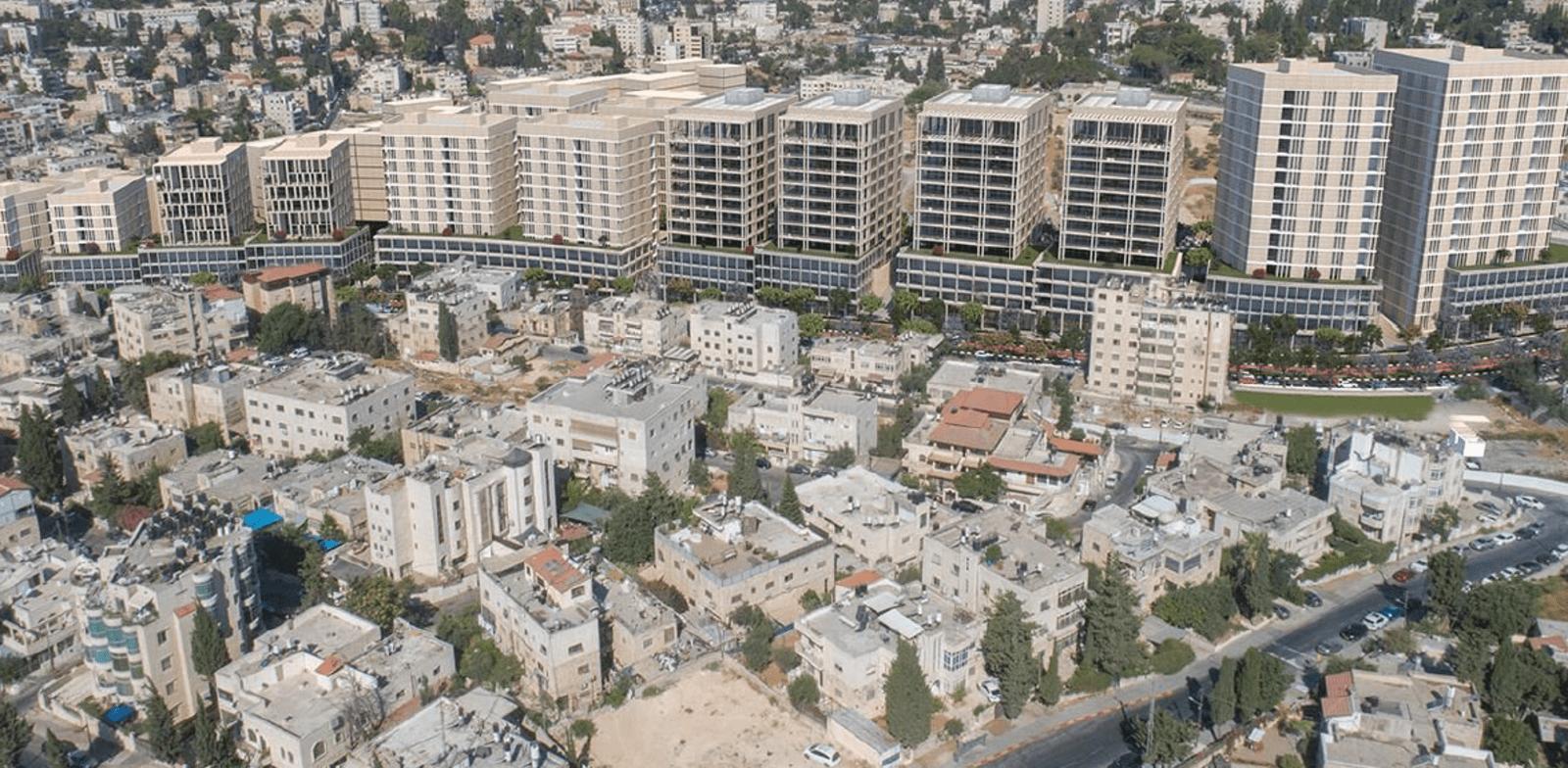 Impression of new business zone in Wadi al-Joz  credit: Ari Cohen Architecture and Urban Planning