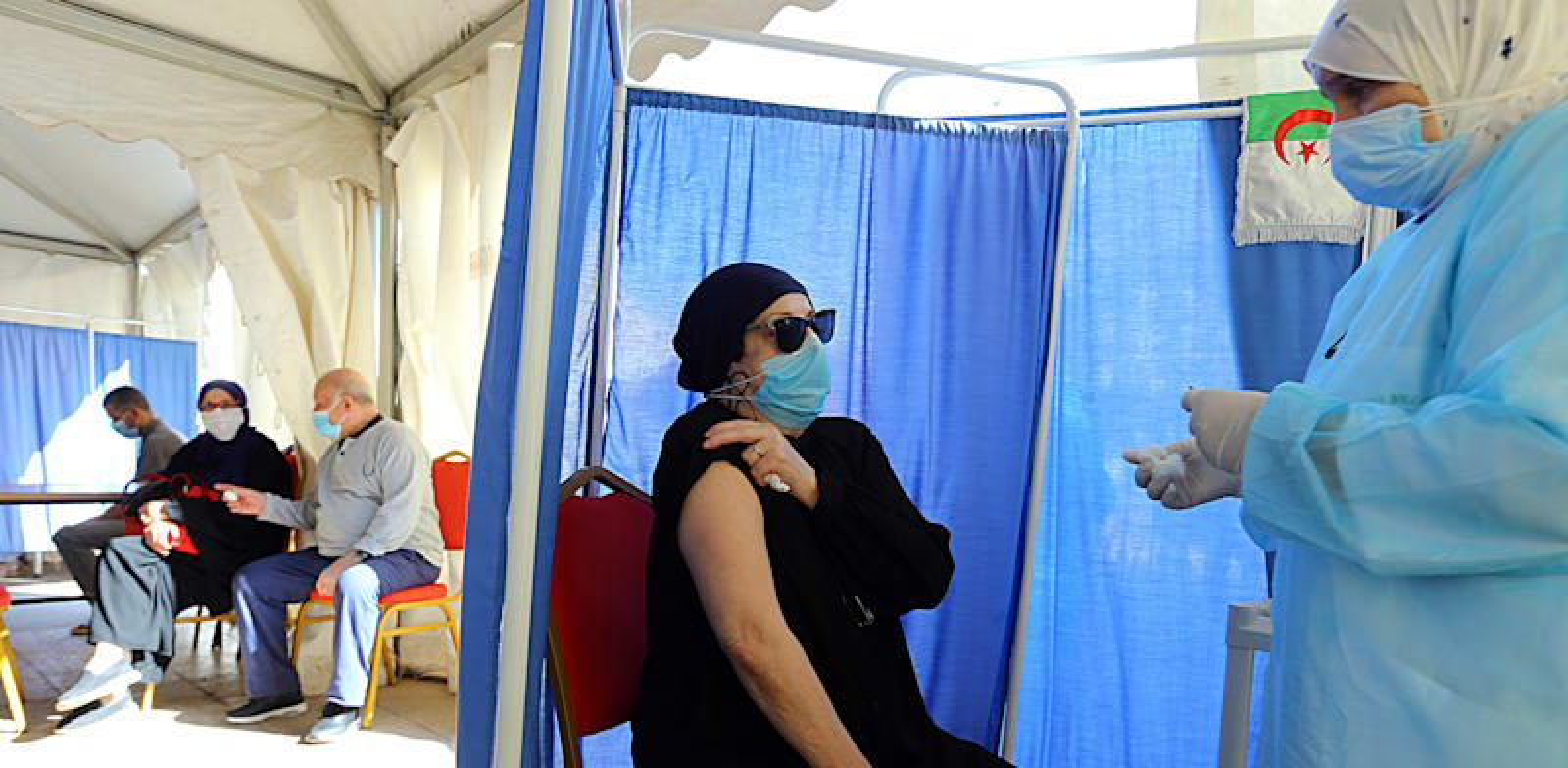 עמדת חיסונים באלג׳יר, ספטמבר 2021 / צילום: Asoociated Press