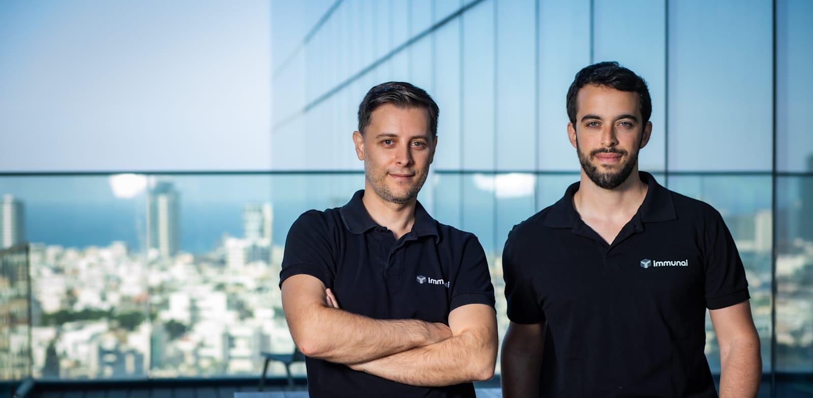 ImmunAI founders Luis Voloch and Noam Solomon Photo: Arik Sultan