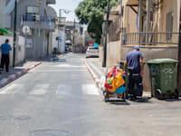 רחובות ריקים בצל מגפת הקורונה / צילום: כדיה לוי