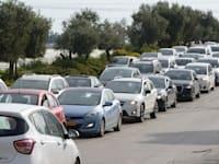 פקק בכביש 4 / צילום: איל יצהר