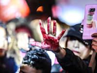 מחאת נשים נגד אלימות / צילום: שלומי יוסף