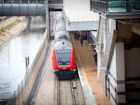 """רכבת ישראל תחנה חדשה ליד הבורסה ת""""א / צילום: שלומי יוסף"""