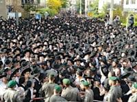 הלוויה הרב אהרון לייב שטיינמן בני ברק / צילום: שלומי גבאי , באדיבות וואלה חדשות