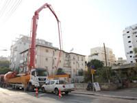 בנין בבניה רחוב ויצמן 29 רחובות / צילום: כדיה לוי