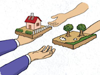 הפקעות, חילופי קרקע / איור: לירון בר עקיבא