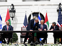 טקס חתימת הסכם השלום בוושינגטון. עם איחוד האמירויות / צילום: אבי אוחיון - לע''מ