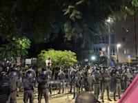 שוטרים בכיכר הבימה / צילום: ניצן שפיר