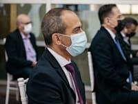 רוני גמזו- הנחת אבן פינה בית חולים רפואה דחופה איכילוב / צילום: אבישג שאר ישוב
