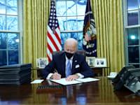 """נשיא ארה""""ב ג'ו ביידן / צילום: Reuters, Tom Brenner"""