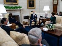 הנשיא ביידן בפגישה בבית הלבן / צילום: Sipa USA