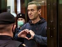 אלכסיי נבלני בבית המשפט אתמול / צילום: Associated Press, Moscow City Court