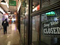 חנות סגורה בניו יורק בעקבות הקורונה / צילום: Reuters, Stephen Yang