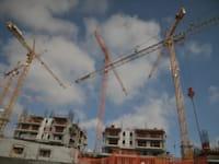 מנופים , אתר בנייה / צילום: תמר מצפי