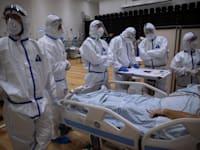 מחלקת טיפול נמרץ בבית חולים זיו בצפת / צילום: Associated Press, Oded Balilty