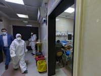 מחלקת קורונה בבית חולים ברמאללה / צילום: Associated Press, Nasser Nasser