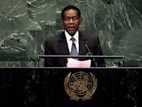 תאודורו מבאסוגו, נשיא גינאה המשוונית / צילום: Associated Press, Richard Drew