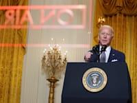 הנשיא ביידן נושא דברים בשידור חי בכינוס מנהיגי 7־G ביום שישי / צילום: Reuters
