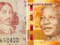 הראנד של דרום אפריקה. יאן פאן ריבק, המתיישב ההולנדי הראשון, 1652; ונלסון מנדלה, הנשיא השחור הראשון, 1994 / צילום: Shutterstock